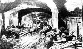 Ночлежка Хитрова рынка. В.Симов. Рисунок с натуры