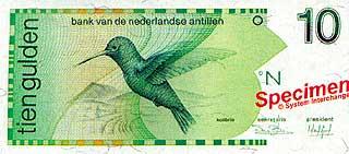 Колибри. 10 гульденов. Антильские острова
