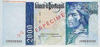Бартоломеу Диаш. 2000 эскудо. Португалия