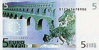 Мосты, соединяющие страны и континенты. 5 Евро. Европа
