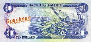 Добыча бокситов. 10 долларов. Ямайка