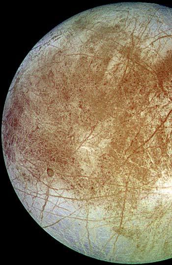 Ледяная поверхность спутника Юпитера — Европа